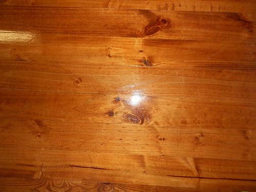 teak stain on pine floor